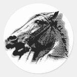 Bucephalus Pegatina Redonda