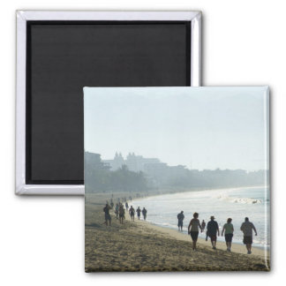 Bucerias Beach in the Morning 2 Inch Square Magnet