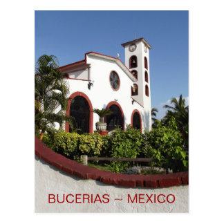 Bucerias Town Center Church Postcard