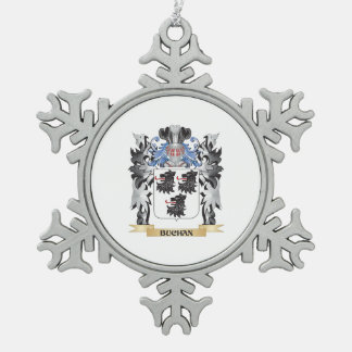 Buchan Coat of Arms - Family Crest Snowflake Pewter Christmas Ornament