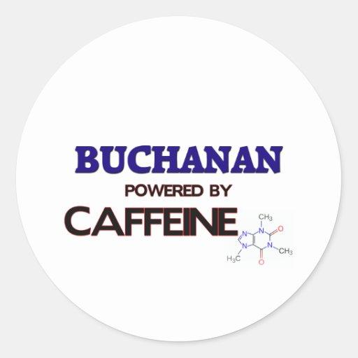 Buchanan accionó por el cafeína pegatina redonda
