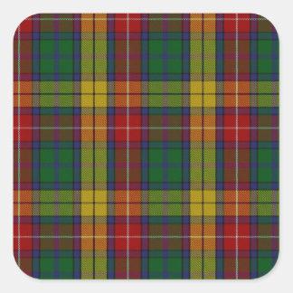 Buchanan Clan Family Tartan Square Sticker