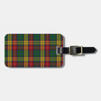Buchanan Clan Family Tartan Tag For Bags