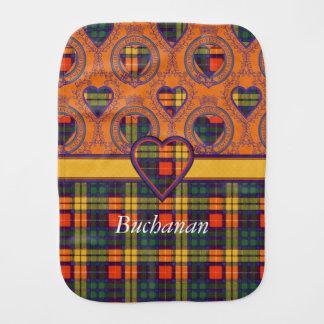 Buchanan clan Plaid Scottish tartan Burp Cloth
