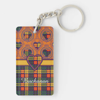 Buchanan clan Plaid Scottish tartan Double-Sided Rectangular Acrylic Keychain