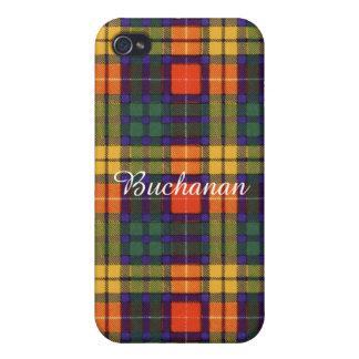 Buchanan clan Plaid Scottish tartan Cover For iPhone 4