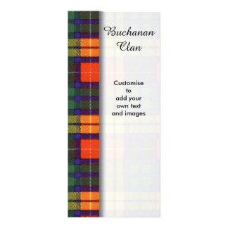 Buchanan clan Plaid Scottish tartan Rack Card