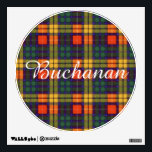 "Buchanan clan Plaid Scottish tartan Wall Sticker<br><div class=""desc"">A lovely design based on the real scottish tartan</div>"