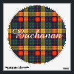 "Buchanan clan Plaid Scottish tartan Wall Sticker<br><div class=""desc"">A lovely design based on the real scottish tartan</div>"