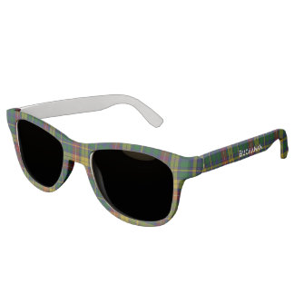Buchanan Clan Tartan Plaid Custom Sunglasses