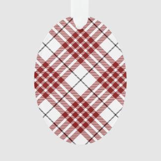 Buchanan clan tartan red white plaid ornament