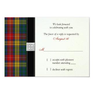 Buchanan Clan Tartan Wedding Reply RSVP Card