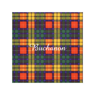 Buchanan Family clan Plaid Scottish kilt tartan Canvas Print