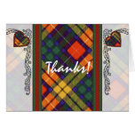 Buchanan Family clan Plaid Scottish kilt tartan Card