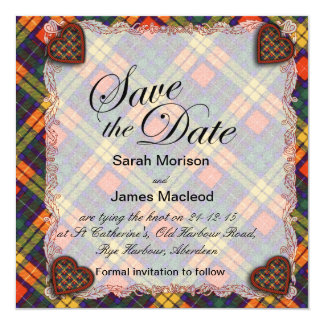 Buchanan Family clan Plaid Scottish kilt tartan Card