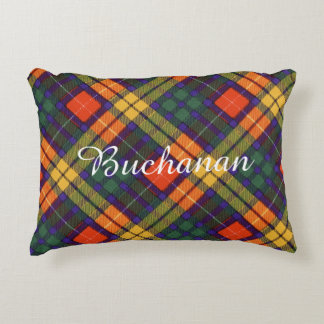Buchanan Family clan Plaid Scottish kilt tartan Decorative Pillow