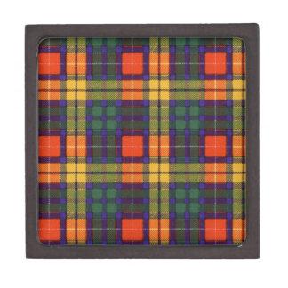 Buchanan Family clan Plaid Scottish kilt tartan Jewelry Box