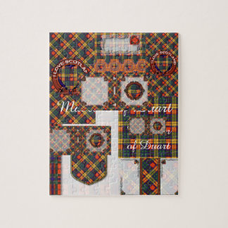 Buchanan Family clan Plaid Scottish kilt tartan Jigsaw Puzzle