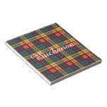 Buchanan Family clan Plaid Scottish kilt tartan Memo Notepad