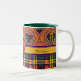 Buchanan Family clan Plaid Scottish kilt tartan Two-Tone Coffee Mug