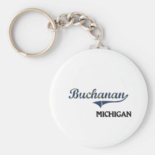 Buchanan Michigan City Classic Key Chains