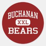 Buchanan - osos - High School secundaria - Clovis Pegatina Redonda
