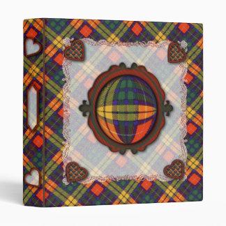 Buchanan Scottish clan tartan Binder