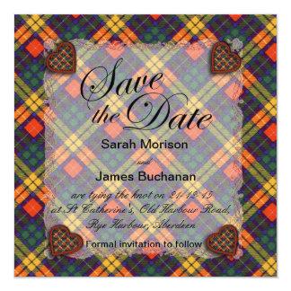 Buchanan Scottish clan tartan - Plaid Card