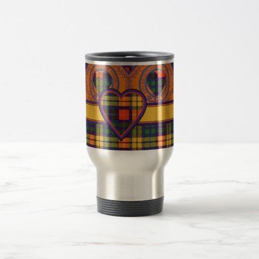 Buchanan Scottish Tartan 15 Oz Stainless Steel Travel Mug
