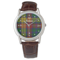 Buchanan Tartan Plaid Faced Custom Watch