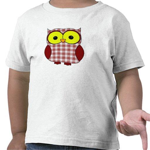 Buchanan Tartan Plaid Owl T Shirts