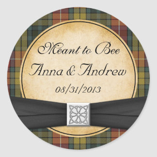 Buchanan Tartan Scottish Celtic Wedding Sticker