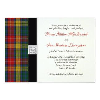 Buchanan Tartan Wedding Invitation