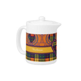 Buchanon clan Plaid Scottish tartan Teapot