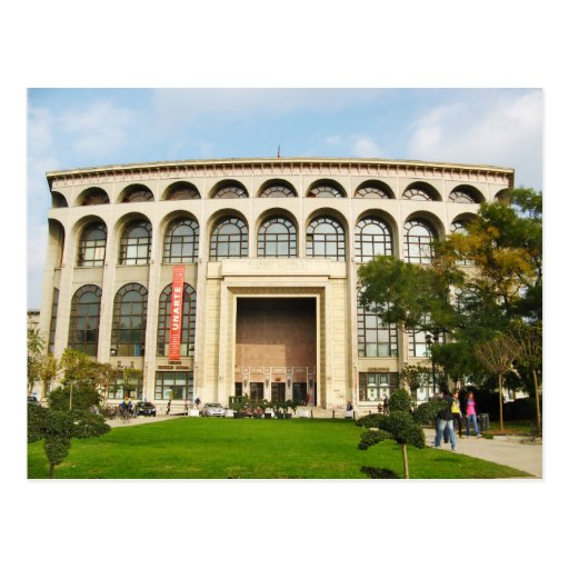 Bucharest building postcard
