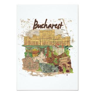 Bucharest 5x7 Paper Invitation Card