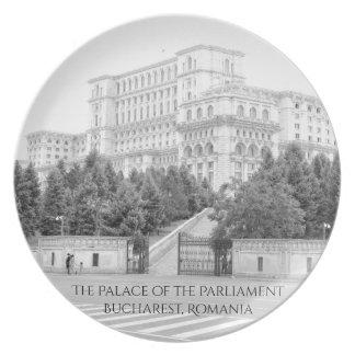 Bucharest, Romania Melamine Plate
