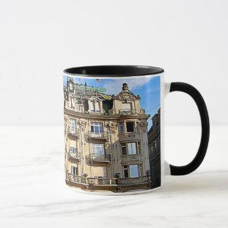 Buchereer building, lucerne city centre mug