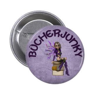 Bücherjunky Pinback Buttons