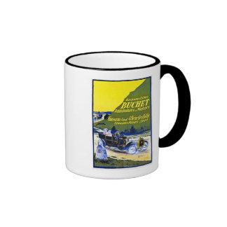 Buchet Automobiles Advertisement - Vintage French Coffee Mugs