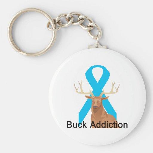 Buck Addiction Keychain