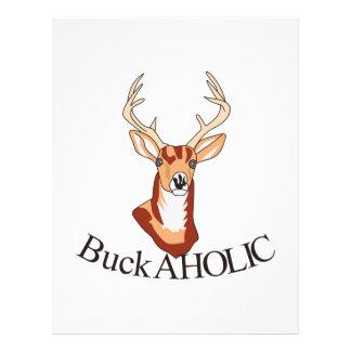 Buck-aholic Letterhead
