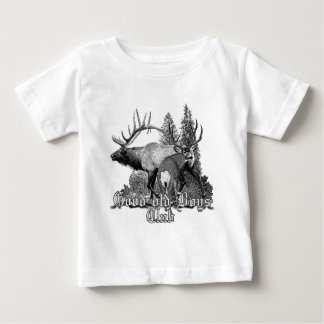 Buck and bull wildlife baby T-Shirt