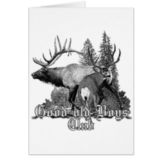 Buck and bull wildlife greeting card