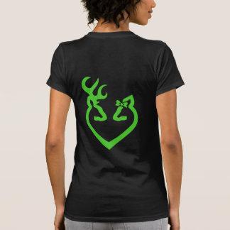 Buck and Doe Heart Love Green Shirt