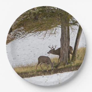 BUCK AND DOE 9 INCH PAPER PLATE