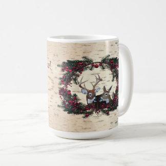 Buck and Doe White Tailed Deer Coffee Mug