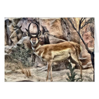Buck Antelope Greeting Cards