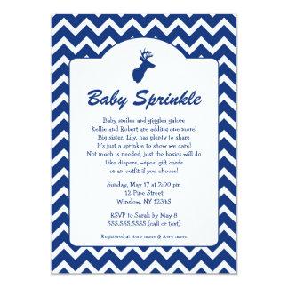 Buck Baby Sprinkle invites, boy baby shower, deer Card