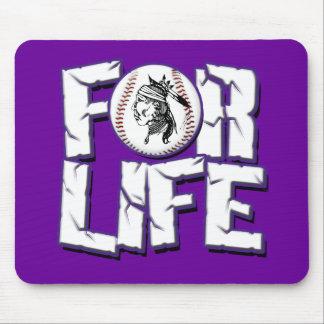 Buck Baseball For Life Mouse Pad